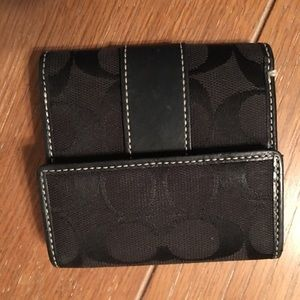 Black coach wallet